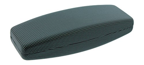 Extra Wide Hard Eyeglass Case For Men & Women, Extra Long Glasses Case, Green