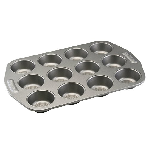 Circulon Nonstick Bakeware 12-Cup Muffin Pan, Gray ()