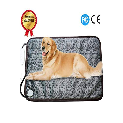 L.HPT 110V pet Electric Blanket Single seat Waterproof Easy to Clean Two Gears Adjustable Dog cat Insulation ()