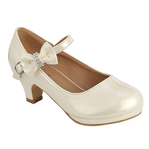 Coshare Kid's Fashion Girl Patent Mary Jane Pumps