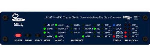 Mutec MC-4 8 Ch bi-directional ADAT/ AES Format & Sampling Rate - Aes Converter Format