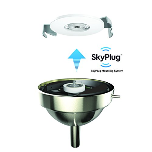 """GE Morgan 54"""" Brushed Nickle LED Indoor/Outdoor Ceiling Fan with SkyPlug Technology for Instant Plug and Play Mounting"""
