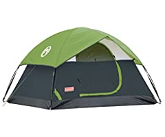 The Coleman Sundome 4-Person Tent is designed for quick and easy setup, so you can spend more time enjoying the outdoors. Great for camping in warm weather, this backpacking tent is designed with large windows and a ground vent to help push w...