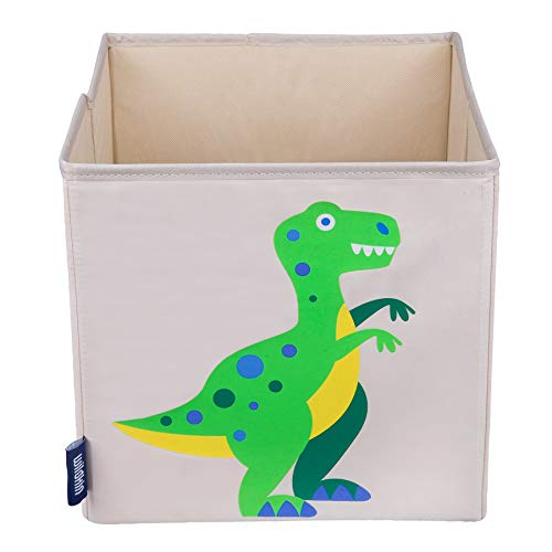 Wildkin 10 Inch Storage Cube, Perfect for Promoting Organization, Measures 10 x 10 x 10 Inches, Coordinates with Other Room Décor – Olive Kids Design, Dinosaur Land