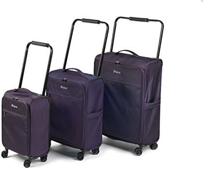 fb83ce64a ZFrame SH2228383PCDWPURMIL Super Lightweight Suitcase Set, 18