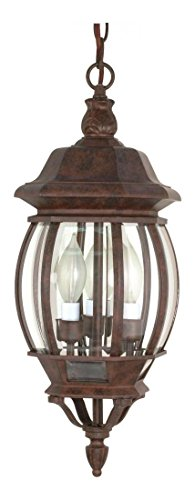 Central Park - 3 Light - 20In. - Hanging Lantern - W/ Clear Beveled by Nuvo