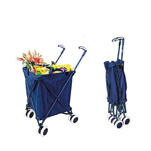 7193319e9714 KTYX Foldable Trolley, Suitcase, Shopping Bag, Rotating Green Shopping Cart  Trolley (Color : Red)