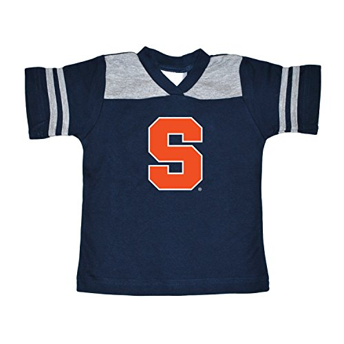 NCAA Syracuse Orange Toddler Boys Football Shirt, Navy, 3