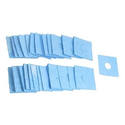 50 piezas de hierro de la soldadura de limpieza Esponja reemplazo 60mm x 60mm x 1, 2mm - - Amazon.com