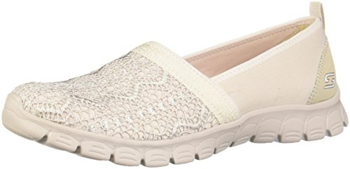 Skechers EZ Flex 3.0 Duches Women Summer Slip on Slipper NAT Ballerinas Natural