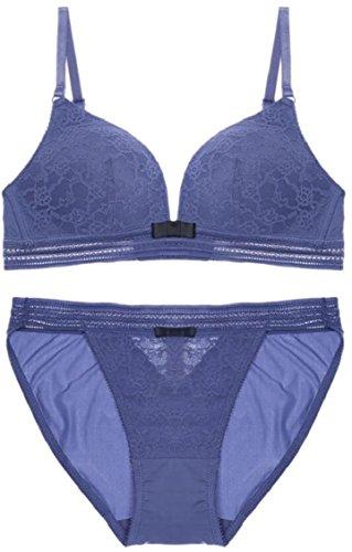 Jmwss QD Women Sexy Lace Bra and Panty 2 Piece Sets Sleepwear 1 32C
