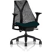Herman Miller Sayl Task Chair: Tilt Limiter - Adj Seat Depth - Height Adj Arms - Standard Carpet Casters - Black...