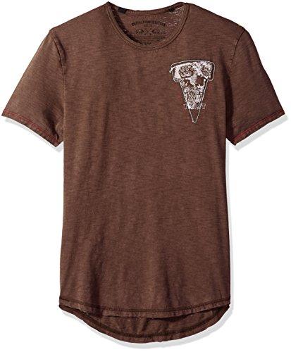 (Buffalo David Bitton Men's Talope Short Sleeve Crew Neck Fashion Graphic T-Shirt, Terra, Large)