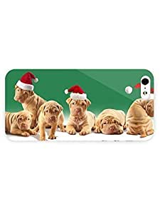 3d Full Wrap Case for iPhone 5/5s Animal Christmas Puppies