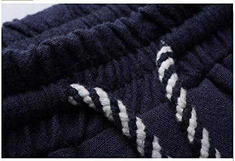 Nicellyer メンズコットンリネンリラックスズボン巾着スポーツカジュアルパンツ