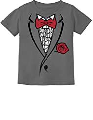 TeeStars - Ruffled Tuxedo With Red Bow Tie Funny Toddler/Infant Kids T-Shirt