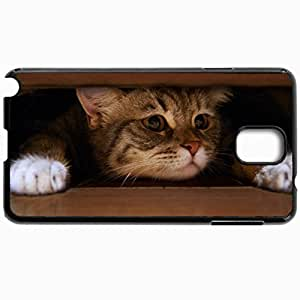 Customized Cellphone Case Back Cover For Samsung Galaxy Note 3, Protective Hardshell Case Personalized Cat Black