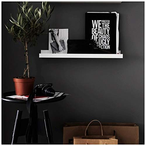 H020 Peel & Stick Wallpaper 23.6in x 19.7ft Black Self Adhesive Contact Paper Wall Furniture Sticker
