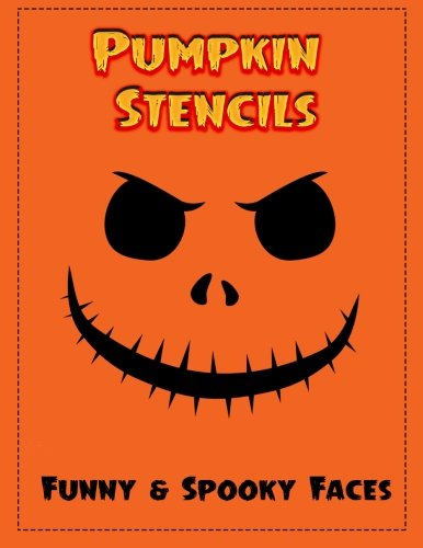 Pumpkin Stencils: 18 Funny & Spooky Faces, Pumpkin Carving Stencils, Pumpkin Carving for $<!--$6.99-->