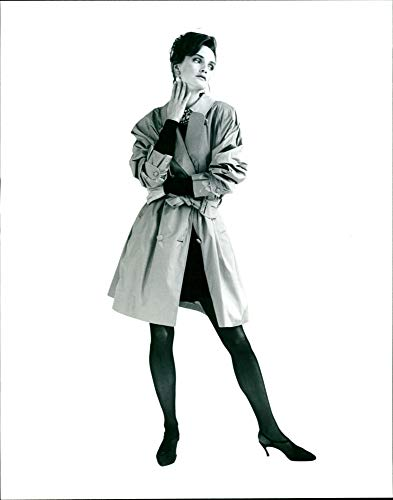 Vintage photo of Burberry fashion:the burberry traditional raincoat.