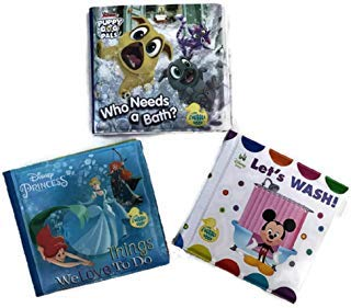 Disney Bath Time Bubble Books, Princess, Mickey Mouse and Puppy Dog Pals, 3-ct Set