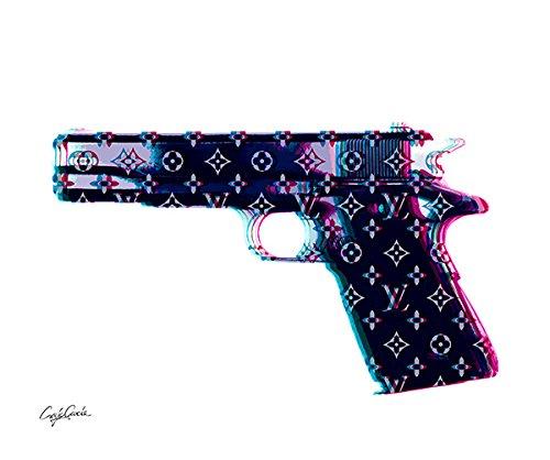 Craig Garcia ルイヴィトン HNDO GUN ポスター A1サイズ (ホワイト) B01EVUK86A ホワイト ホワイト