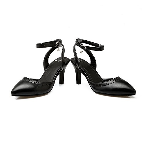 AdeeSu SLC03987 Compensées Femme Noir Sandales qrzCxwqH