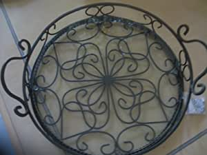 Southern Living At Home Round Jamestown Tray