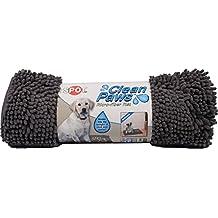 "Ethical Pets Pet Clean Paws Microfiber Dog Mat 35"" X 24"" Grey"