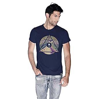 Creo China Wall T-Shirt For Men - Xl, Navy Blue