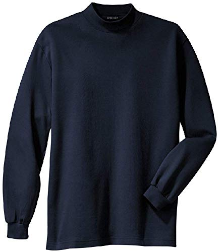 (Joes USA tm Mens Interlock Knit Mock Turtleneck,Navy,Large (41-43) )