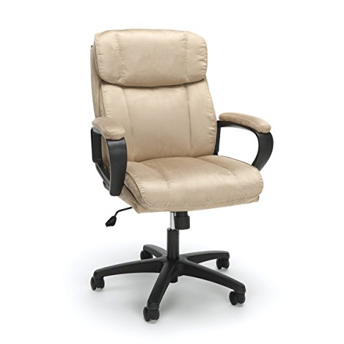 Essentials Executive Chair - Mid Back Office Computer Chair (ESS-3082-TAN) Brown Bomber Leather Executive Chair
