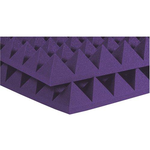 Auralex 4PYR24PUR 4 Studiofoam Pyramid Panels in Purple 6-2'x4'x4 panels