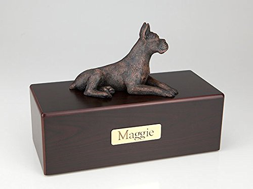 Ever My Pet Boxer Ears Up Economy Bronze Series Dog Pet Urn by Ever My Pet