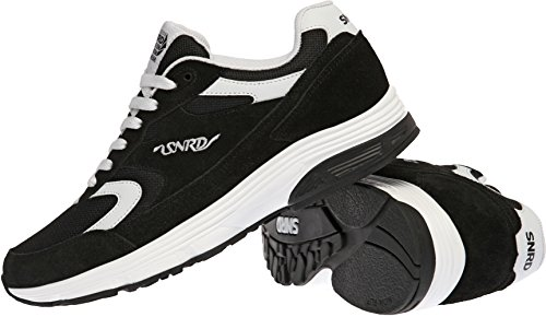 SNRD-714 Unisex Fashion Curved Sports Sneakers Shoes Black White BxL59