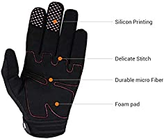Surenhap Guantes de Motos Zombie Bones Design Man Mujer Full-Finger Transpirable con Pantalla t/áctil para tel/éfono GPS para Hombres Damas Motocicletas Campamento al Aire Libre