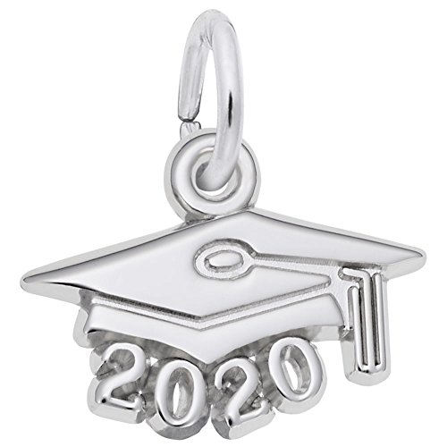Rembrandt Charms, 2020 Graduation Cap, Small.925 Sterling Silver, Engravable