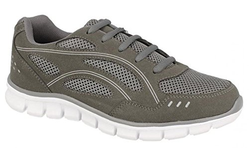 Spot On Ladies Womens Gym Running Jogger Walking Hiking Athletic Trainers Shoes Size 3-8- Grey PV8iI8w