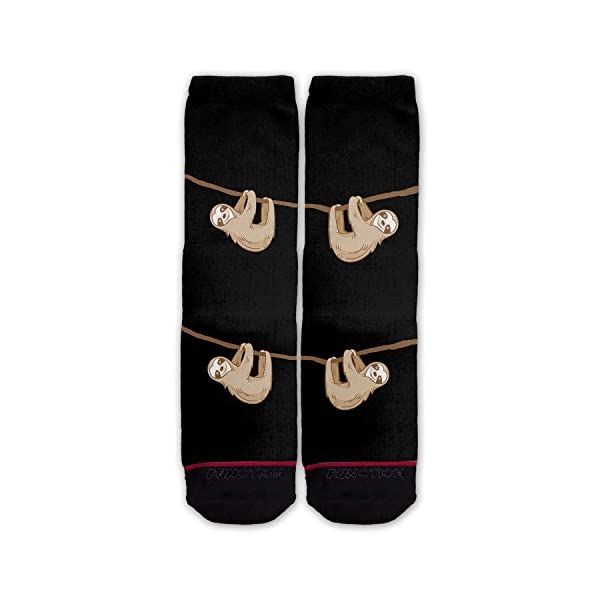 Function - Hanging Sloth Black Fashion Socks -