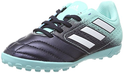 adidas Unisex-Kinder Ace 17.4 Tf Fußballschuhe Blau (Energy Aqua/Footwear White/Legend Ink)