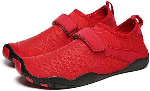 アウトドアスポーツシューズアンチカッティングシューズマルチコード、夏のカップル用ビーチシューズ吸汗性のスイムシューズ(赤) ポータブル (色 : Red, Size : US10)