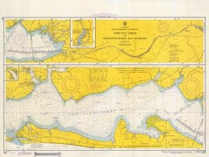 Historical Nautical Chart 870-12-1967: FL, West Bay Creek to Choctawhatchee Bay Ent Year 1967