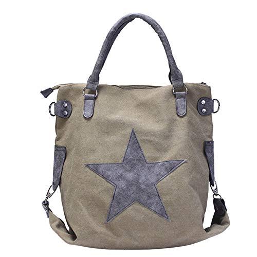 Con Viaggio Da Khaki Shopping Borse Tracolla Tote Green Donna Messenger Borsette Army Bag Borsa Mjfo Bag xq10Hwv1
