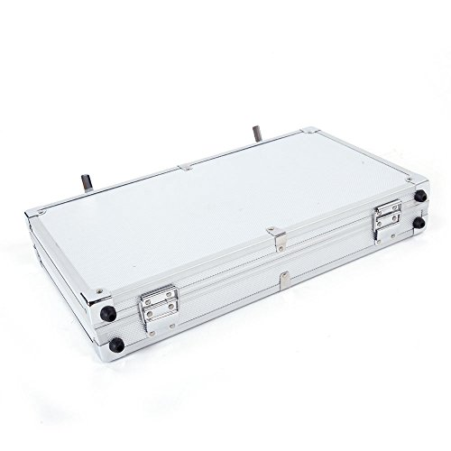 45257.5cm Aluminum New Framed Locking Gun Pistol Handgun Lock Box Hard Storage Carry Case Black