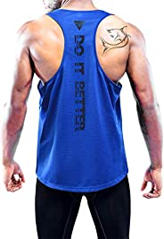 Boyzn Men's Workout Tank Top Y-Back Athletic Muscle Mesh Sleeveless Dry Fit Gym S