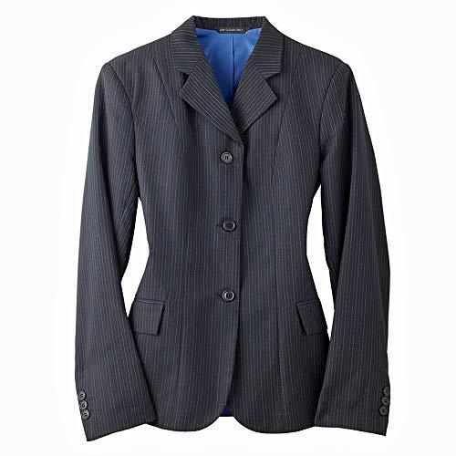 DEVON-AIRE Ladies Concour Show Coat, Navy Pinstripe, 16