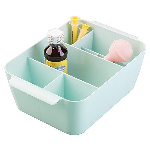 mdesign-baby-nursery-storage-organizer-bin-for-medicine-thermometer-nasal-aspirator-washcloths-mint