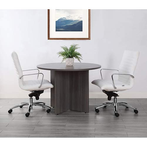 Formation Round Conference Table 42''Dia Gray Laminate