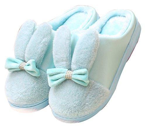 Pantofole Blu Caldo Delle Scarpe Del Coniglietto Delle Donne Del Blubi