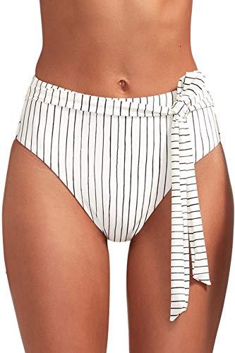 Vitamin A Women's Bolero Stripe Lola High Waist Bikini Bottom Bolero Stripe 6